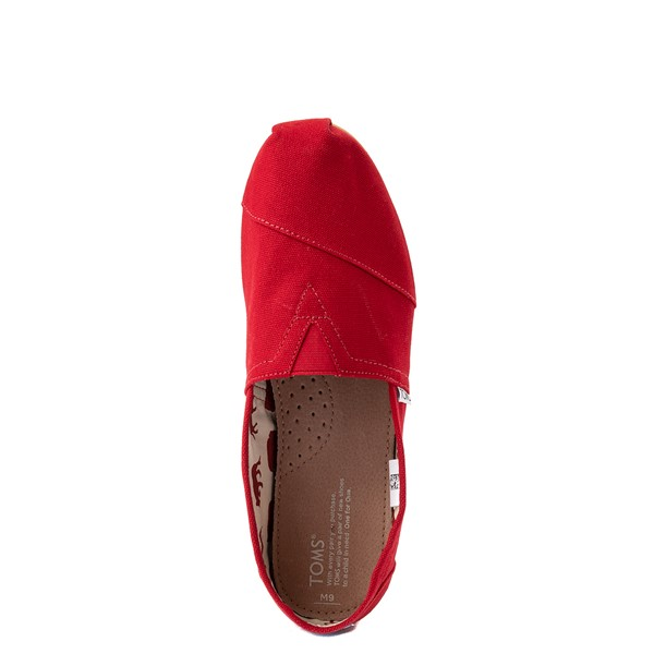 alternate view Mens TOMS Classic Slip On Casual Shoe - RedALT2