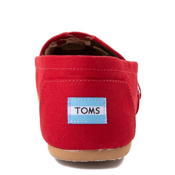 alternate view Mens TOMS Classic Slip On Casual Shoe - RedALT4