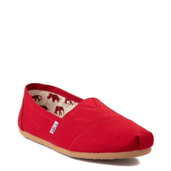 alternate view Mens TOMS Classic Slip On Casual Shoe - RedALT5