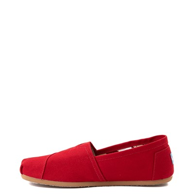 Alternate view of Mens TOMS Classic Slip On Casual Shoe - Red