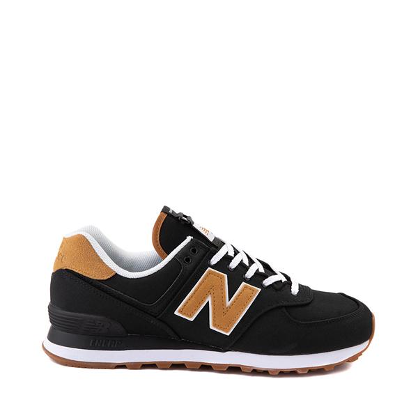 Main view of Mens New Balance 574 Athletic Shoe - Black / Tan