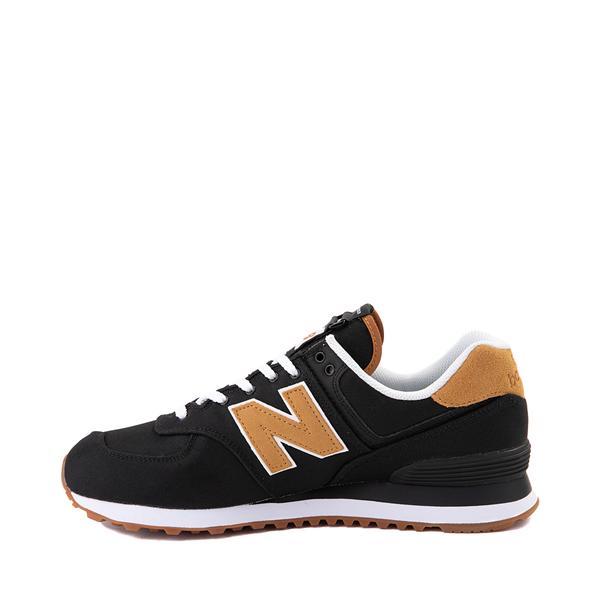 alternate view Mens New Balance 574 Athletic Shoe - Black / TanALT1