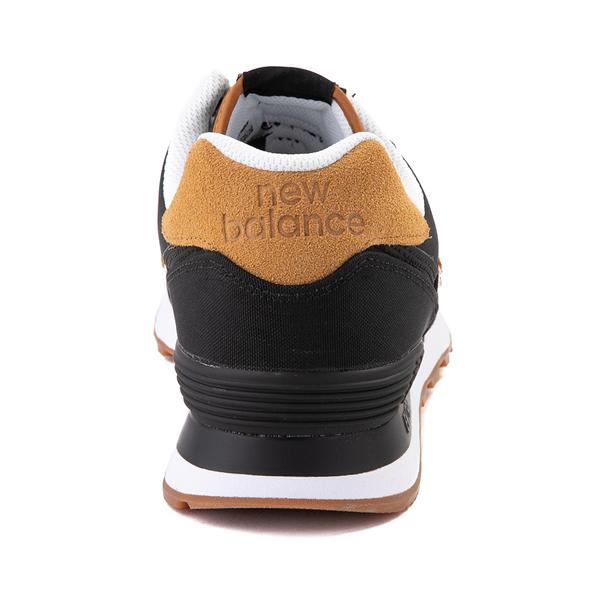 alternate view Mens New Balance 574 Athletic Shoe - Black / TanALT4