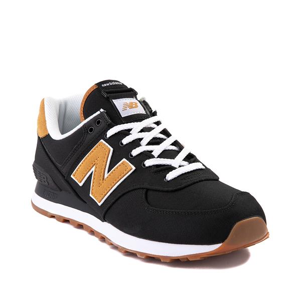 alternate view Mens New Balance 574 Athletic Shoe - Black / TanALT5