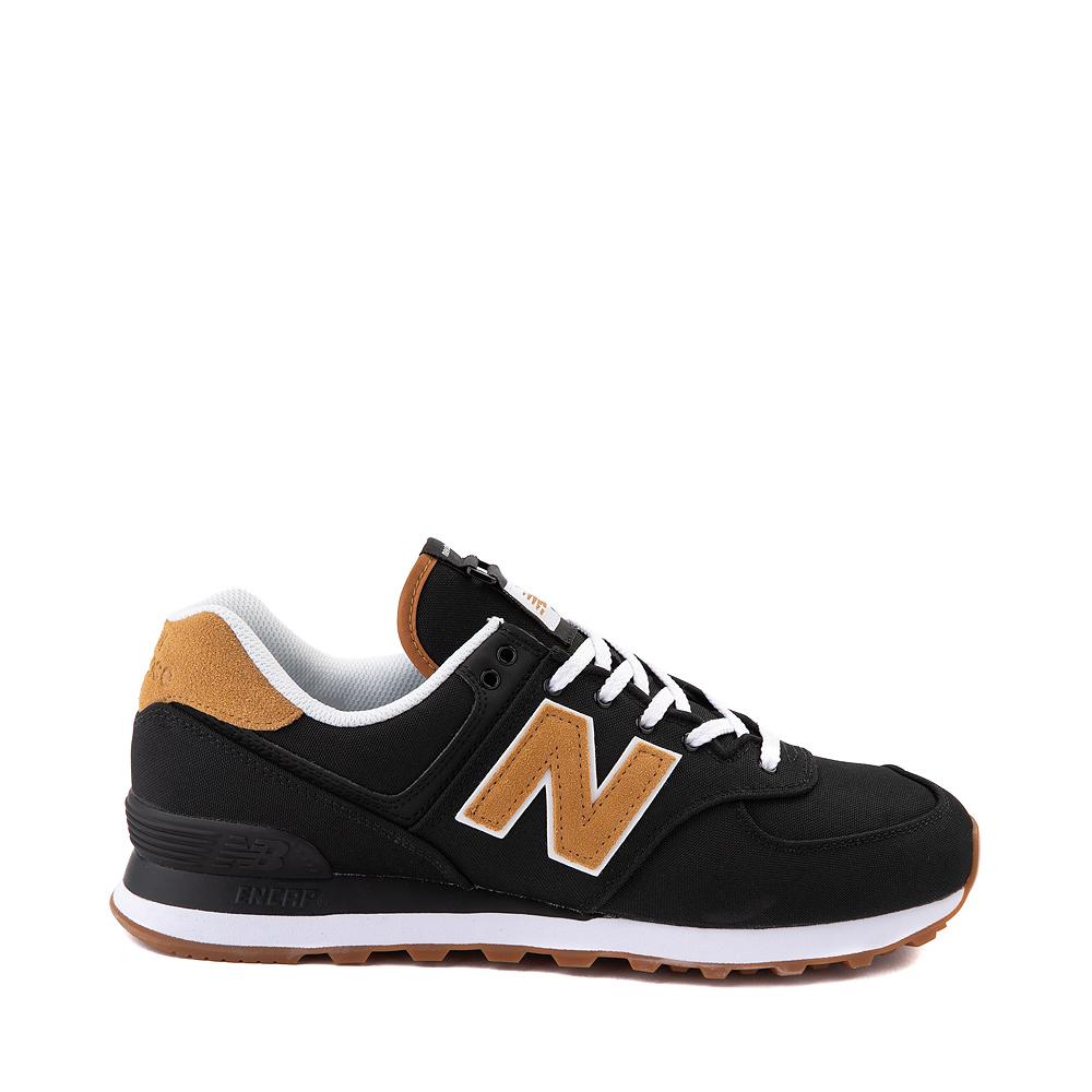 Mens New Balance 574 Athletic Shoe - Black / Tan