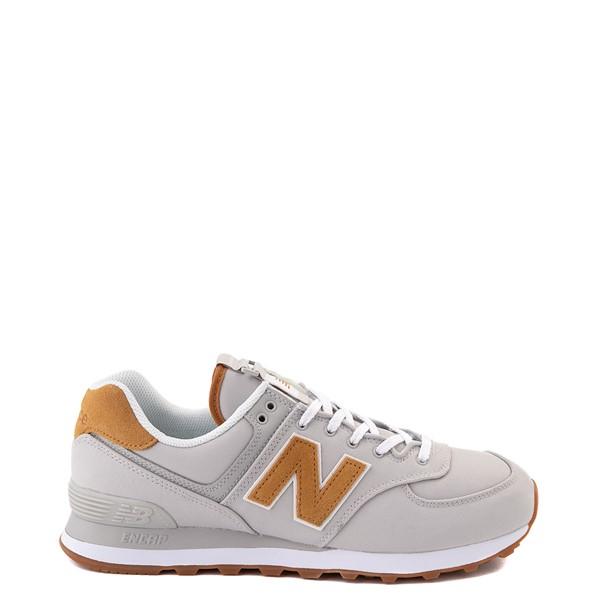 Main view of Mens New Balance 574 Athletic Shoe - Gray / Tan