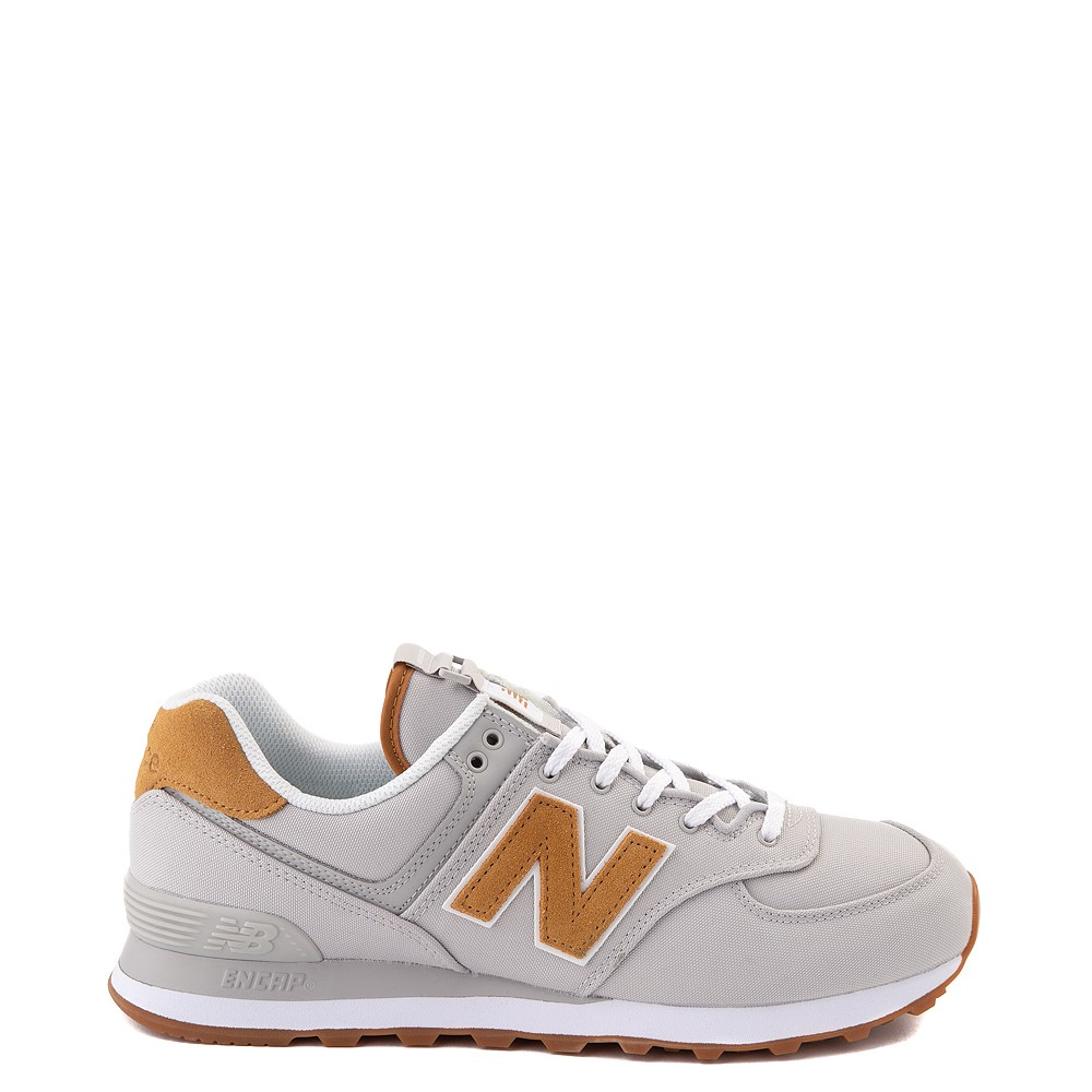 Mens New Balance 574 Athletic Shoe - Gray / Tan