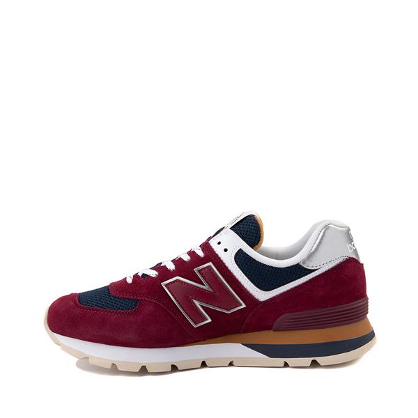 alternate view Mens New Balance 574 Athletic Shoe - Garnet / NavyALT1