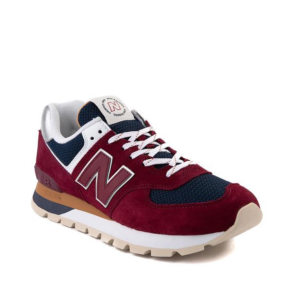 alternate view Mens New Balance 574 Athletic Shoe - Garnet / NavyALT5