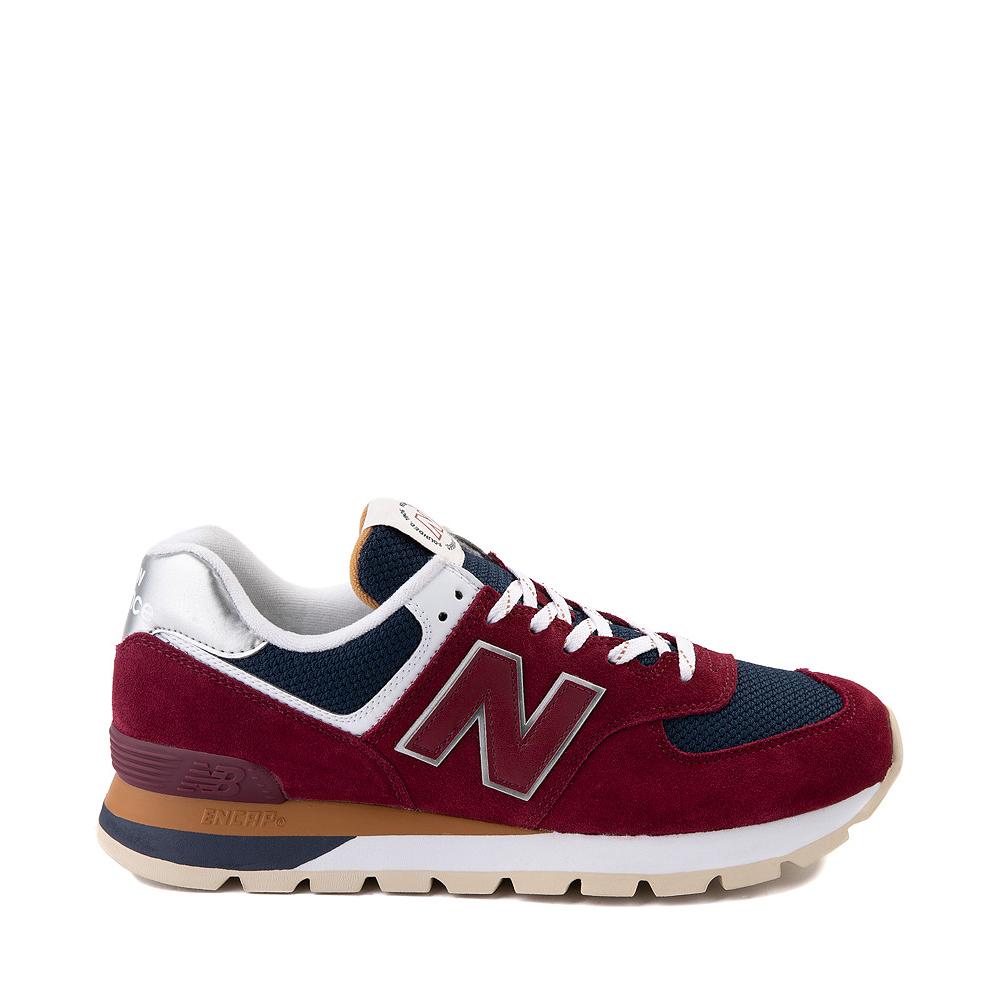 Mens New Balance 574 Athletic Shoe - Garnet / Navy