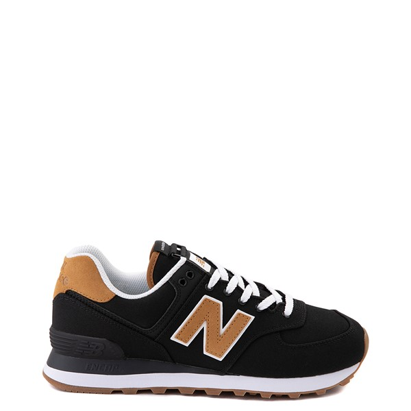 Main view of Womens New Balance 574 Athletic Shoe - Black / Tan
