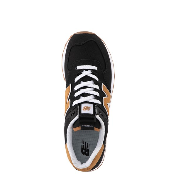 alternate view Womens New Balance 574 Athletic Shoe - Black / TanALT2