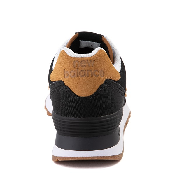 alternate view Womens New Balance 574 Athletic Shoe - Black / TanALT4