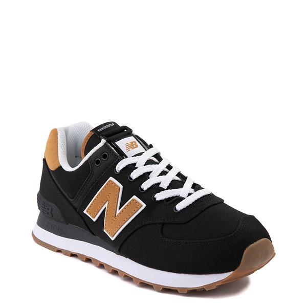 alternate view Womens New Balance 574 Athletic Shoe - Black / TanALT5