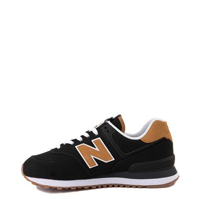 Alternate view of Womens New Balance 574 Athletic Shoe - Black / Tan