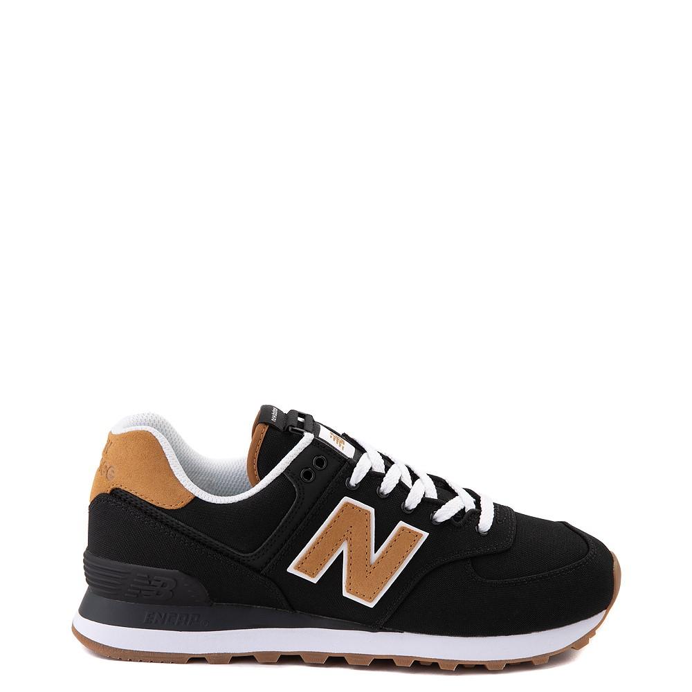 Womens New Balance 574 Athletic Shoe - Black / Tan
