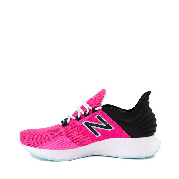 alternate view Womens New Balance Fresh Foam Roav Athletic Shoe - Fuchsia / BlackALT1