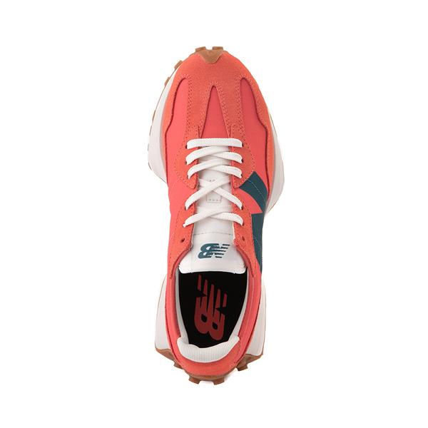 alternate view Womens New Balance 327 Athletic Shoe - Mars Red / Mountain TealALT2
