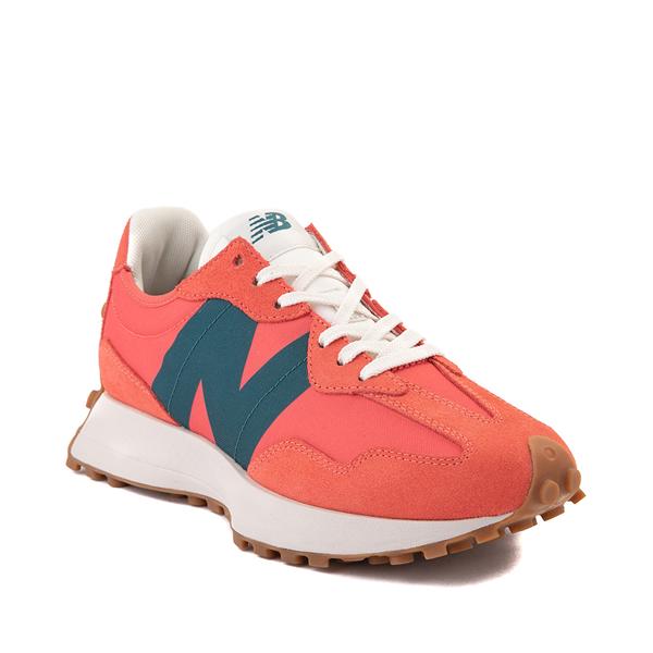 alternate view Womens New Balance 327 Athletic Shoe - Mars Red / Mountain TealALT5