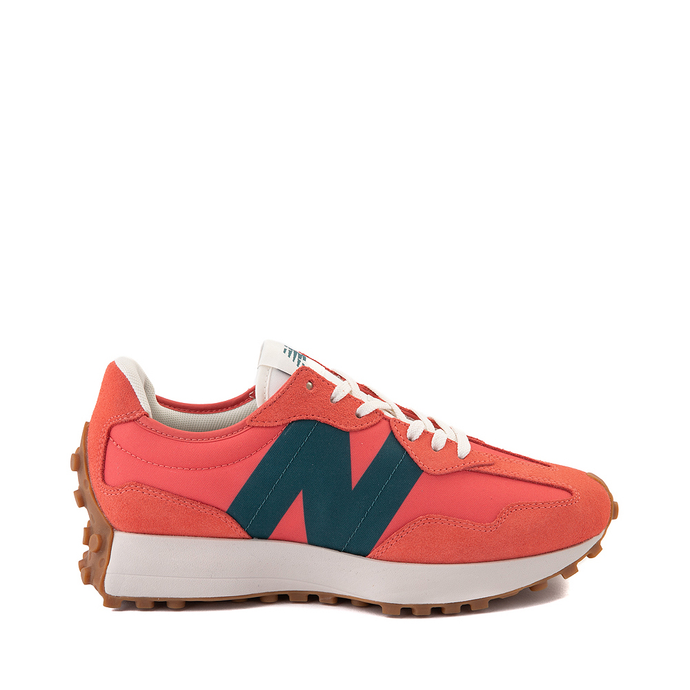 Womens New Balance 327 Athletic Shoe - Mars Red / Mountain Teal