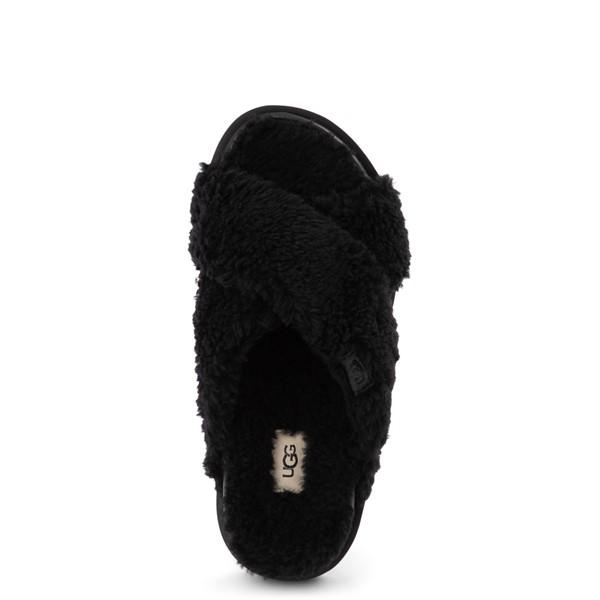 alternate view Womens UGG® Fuzz Sugar Slide Sandal - BlackALT2