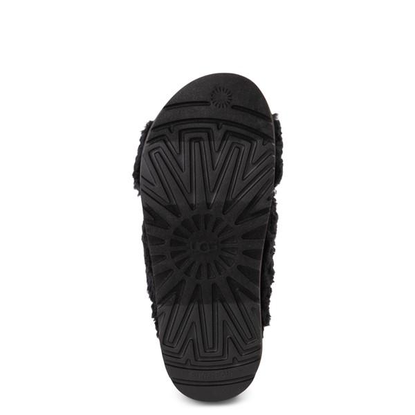 alternate view Womens UGG® Fuzz Sugar Slide Sandal - BlackALT3