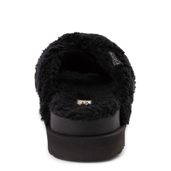 alternate view Womens UGG® Fuzz Sugar Slide Sandal - BlackALT4