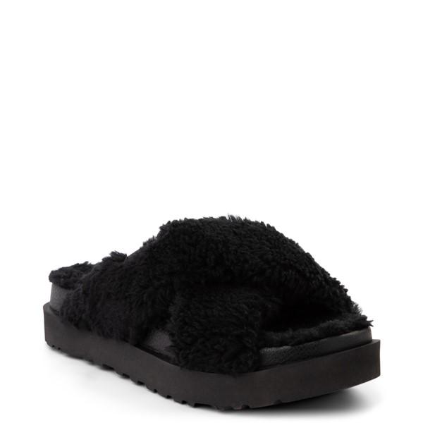 alternate view Womens UGG® Fuzz Sugar Slide Sandal - BlackALT5