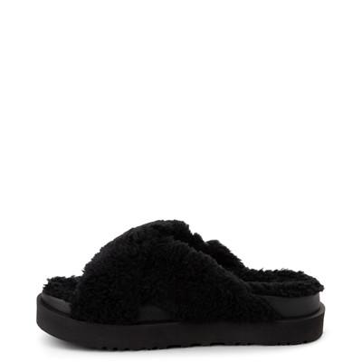 Alternate view of Womens UGG® Fuzz Sugar Slide Sandal - Black