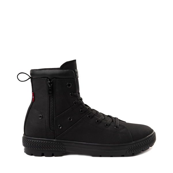 Mens Levi's Twill Sahara Combat Boot - Black