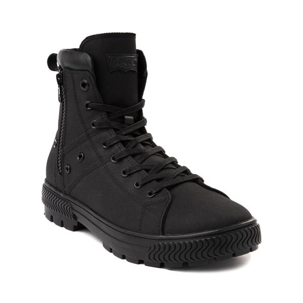 alternate view Mens Levi's Twill Sahara Combat Boot - BlackALT5