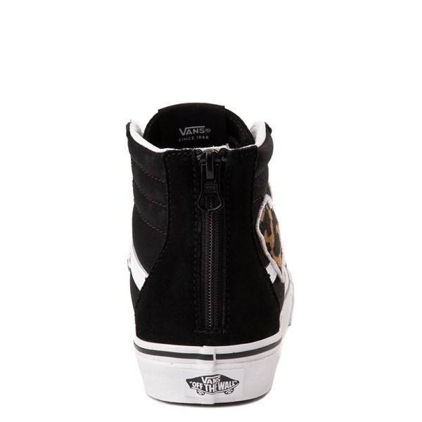 alternate view Vans Sk8 Hi Zip Leopard Heart Skate Shoe - Big Kid - BlackALT4