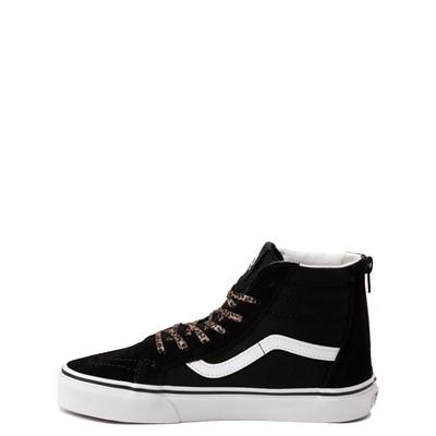 Alternate view of Vans Sk8 Hi Zip Leopard Heart Skate Shoe - Big Kid - Black