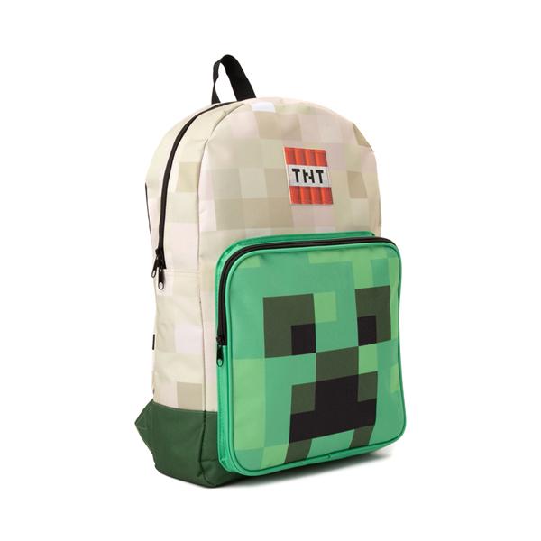 alternate view Minecraft Creeper Boom Backpack - GreenALT4B