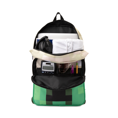 Alternate view of Minecraft Creeper Boom Backpack - Green