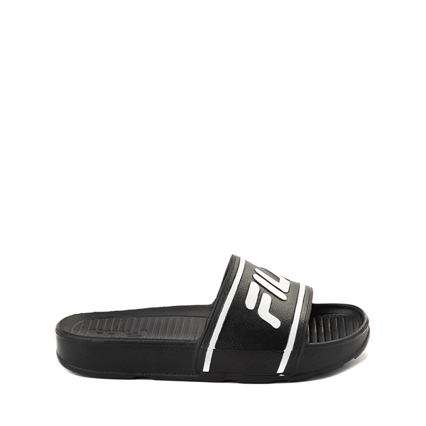 Main view of Fila Sleek Slide Sandal - Toddler / Little Kid / Big Kid - Black / White