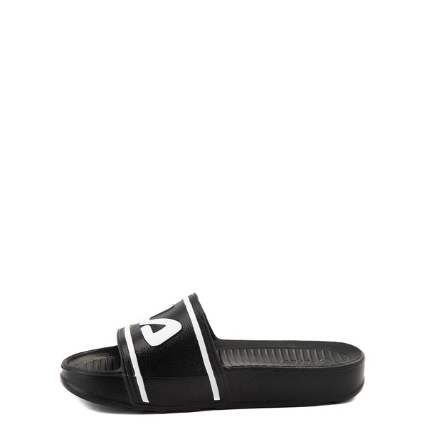 alternate view Fila Sleek Slide Sandal - Toddler / Little Kid / Big Kid - Black / WhiteALT1B