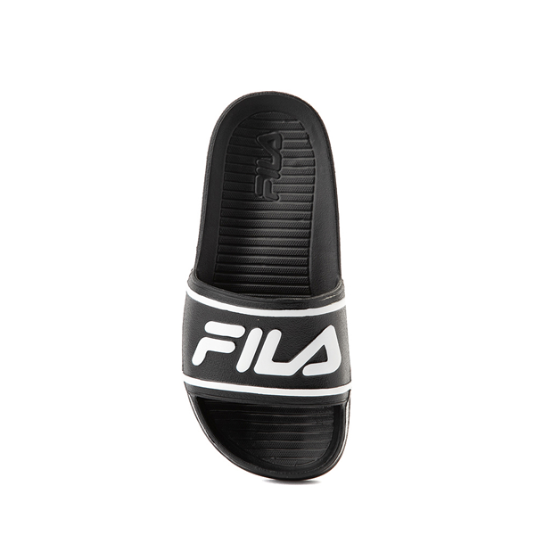 alternate view Fila Sleek Slide Sandal - Toddler / Little Kid / Big Kid - Black / WhiteALT2