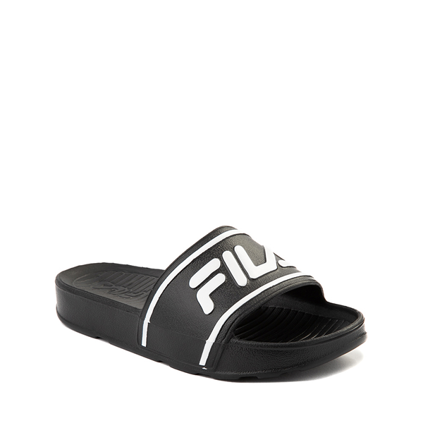 alternate view Fila Sleek Slide Sandal - Toddler / Little Kid / Big Kid - Black / WhiteALT5