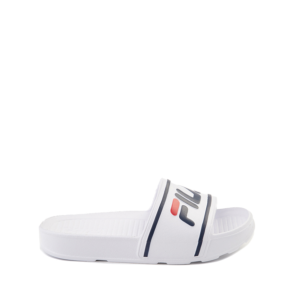 Main view of Fila Sleek Slide Sandal - Little Kid / Big Kid - White