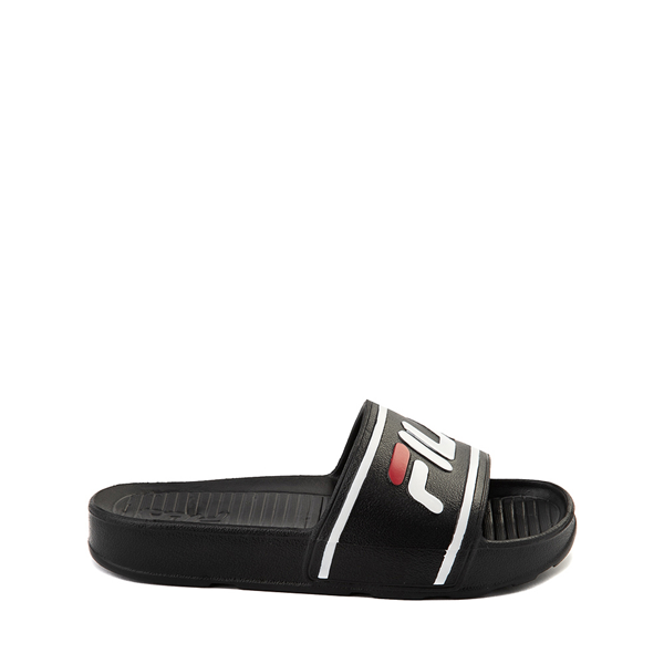 Main view of Fila Sleek Slide Sandal - Little Kid / Big Kid - Black / White / Red