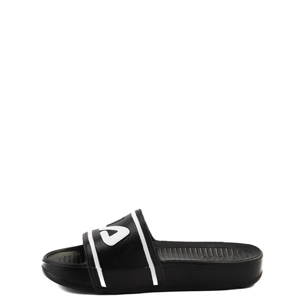 alternate view Fila Sleek Slide Sandal - Little Kid / Big Kid - Black / White / RedALT1B