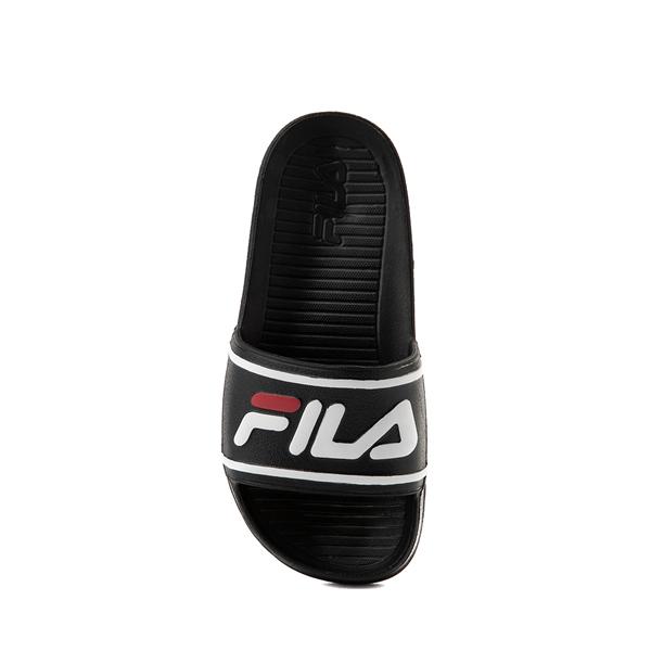 alternate view Fila Sleek Slide Sandal - Little Kid / Big Kid - Black / White / RedALT2