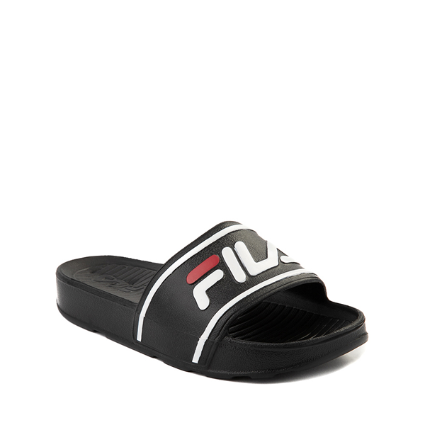 alternate view Fila Sleek Slide Sandal - Little Kid / Big Kid - Black / White / RedALT5