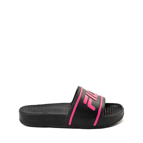 Fila Sleek Slide Sandal - Toddler / Little Kid / Big Kid - Black / Pink