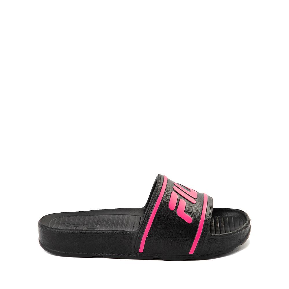 Fila Sleek Slide Sandal - Toddler / Little Kid / Big Kid - Black / Pink
