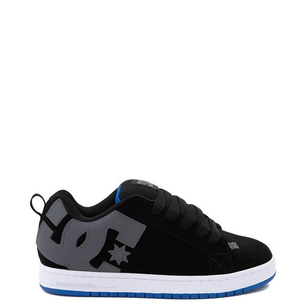 Main view of Mens DC Court Graffik Skate Shoe - Black / Gray / Blue