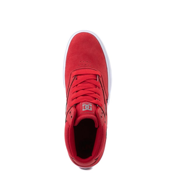 alternate view Mens DC Kalis Vulc Mid Skate Shoe - RedALT2