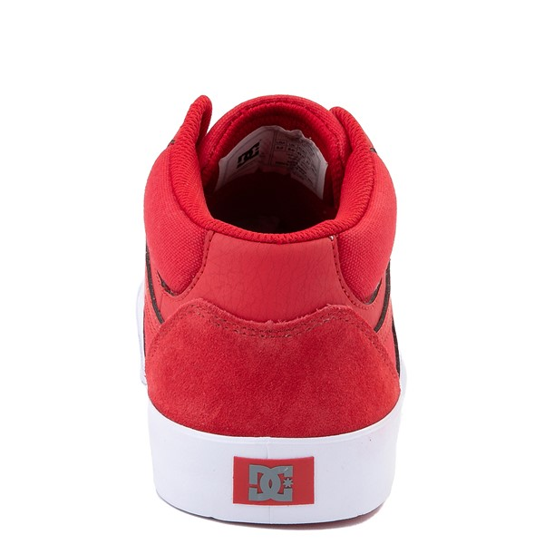 alternate view Mens DC Kalis Vulc Mid Skate Shoe - RedALT4