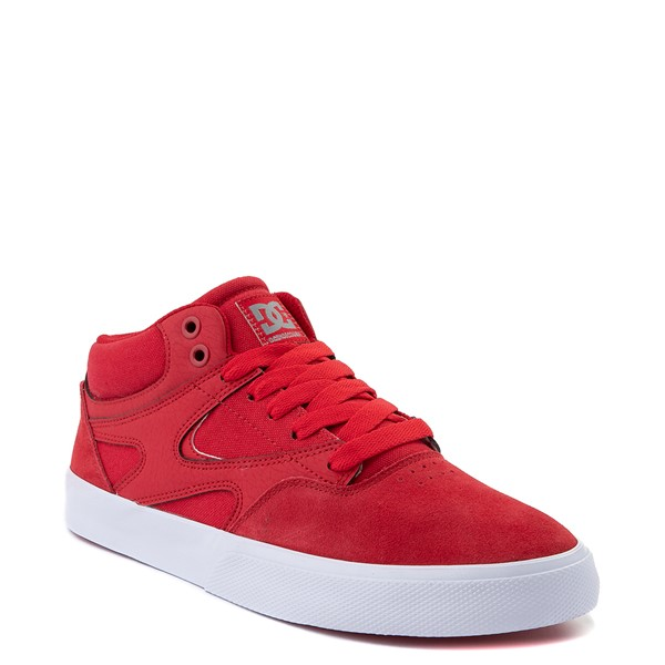 alternate view Mens DC Kalis Vulc Mid Skate Shoe - RedALT5